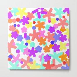 Happy pattern colorful Metal Print