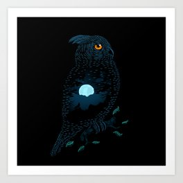 The Owl and the Forest Art Print
