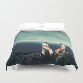 The Earth was crying and We were there Duvet Cover