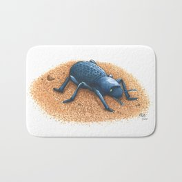 Blue Death Feigning Beetle Bath Mat