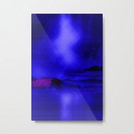 Under A Calm Moon Blue Landscape Metal Print