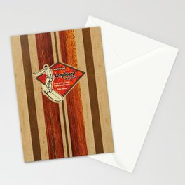 Waimea Hawaiian Surfboard Design Stationery Cards