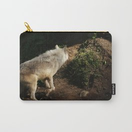 LONE -A wolf portrait Carry-All Pouch