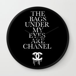 Chanel#5 Bag Under My Eyes Wall Clock