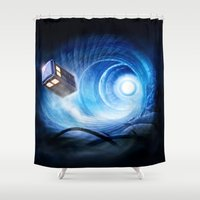 doctor who Shower Curtains featuring Doctor Who by Joe Roberts