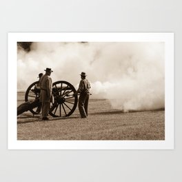 Civil War Era Cannon Firing Art Print