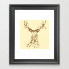 Tribal Deer Framed Art Print