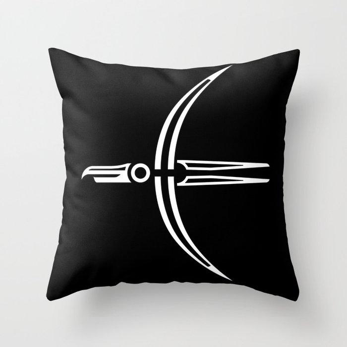 Moon Raven Throw Pillow