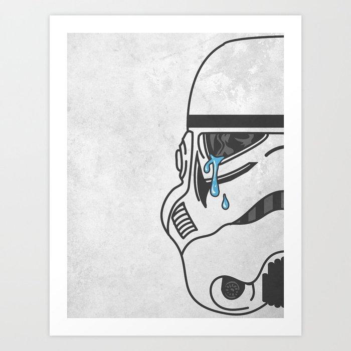 Tears of the Trooper Art Print