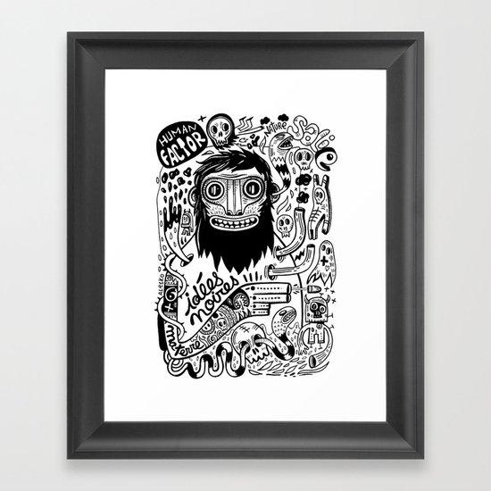 Idées noires Framed Art Print