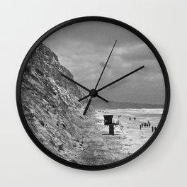 Torrey Pines, San Diego, California - Tower 1 - B&W Wall Clock