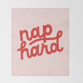 Nap Hard Throw Blanket