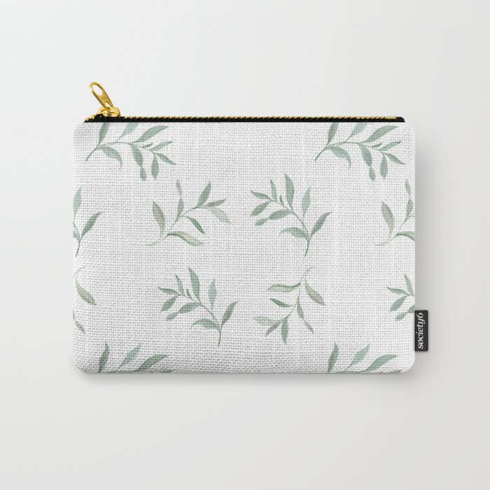 Airy Watercolor Vine By Journey Home Made Carry-All Pouch