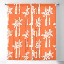 Palm Tree Pattern Orange 3 Blackout Curtain