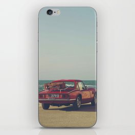 Red Supercar, classic car, triumph, spitfire, color photo, interior design, old car, auto iPhone Skin