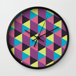 Prisma Shadows Wall Clock