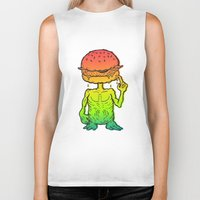 et Biker Tanks featuring ET Burger by beeisforbear