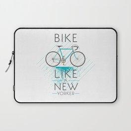 Bike like a new yorker Laptop Sleeve