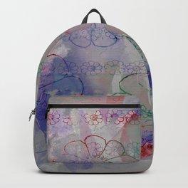 flower pattern color explosion Backpack