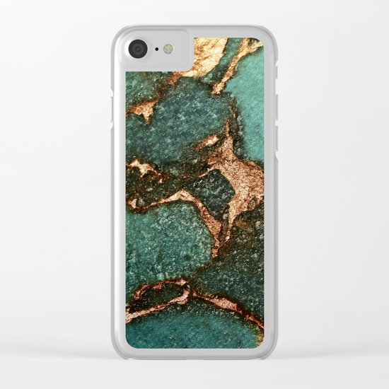 EMERALD AND GOLD  Clear iPhone Case