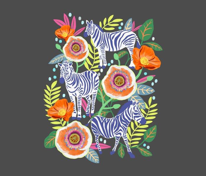 Zebra Idea, zebra print, animal print, flower print  Metal Travel Mug
