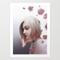 Rose Moon Art Print