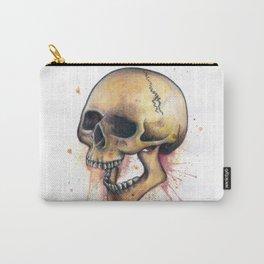 Splatter Paint Skull Carry-All Pouch