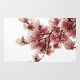 Magnolia tree, pretty pink blooms Rug