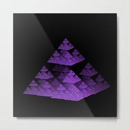 3D Fractal Pyramid Metal Print