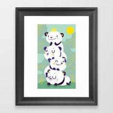 Panda pile Framed Art Print