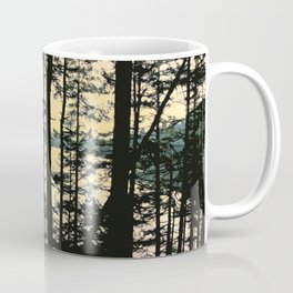 EARLY WINTER DUSK AT MOUNTAIN LAKE ON ORCAS ISLAND Coffee Mug