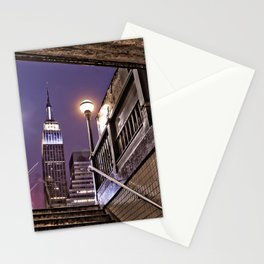 Empire State Subway - New York Photography Stationery Cards