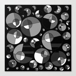 Bubble Grey 11 Canvas Print