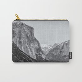 El Capitan, Half Dome and Sentinel Rock from Tunnel View bw Carry-All Pouch