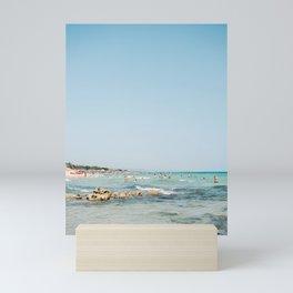 Summer in Italy   Spiaggia Pilone Puglia   Wanderlust beach photography print Mini Art Print