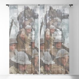 Dunkirk, WWII Sheer Curtain