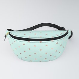 Mint & Rose Gold Polka Dot Pattern Fanny Pack