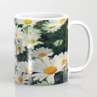 daisies Mugs featuring Daisies by KunstFabrik_StaticMovement Manu Jobst