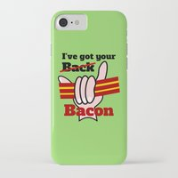 bacon iPhone & iPod Cases featuring Bacon by mailboxdisco