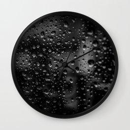dark drops Wall Clock