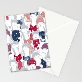 Happy llamas Christmas Choir III Stationery Cards