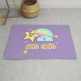 Eat Shit - with cuteness Rug