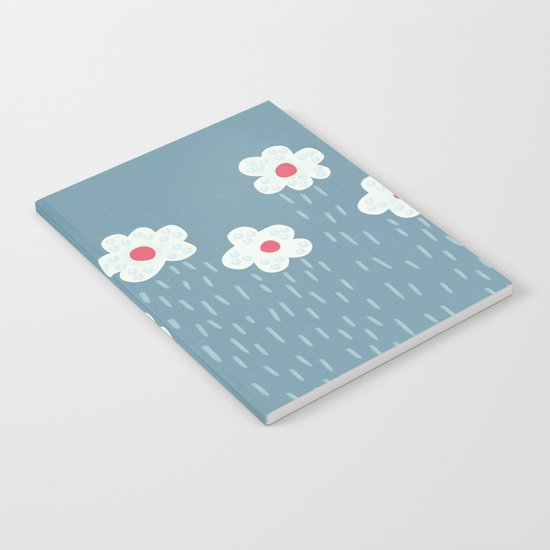 Rainy Flowery Clouds Notebook