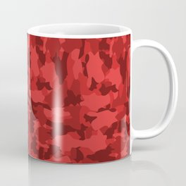 Red Background Camouflage Pattern Coffee Mug