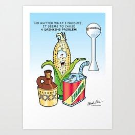 Ethanol & Alchohol Drinking Problem Art Print