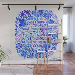 Always Remember – Indigo Palette Wall Mural