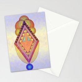 Cara Romboidal o payaso Stationery Cards