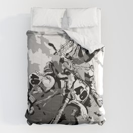 Motocross Dirt-Bike Championship Racer Comforters