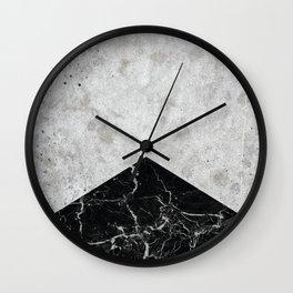 Concrete Arrow - Black Granite #844 Wall Clock