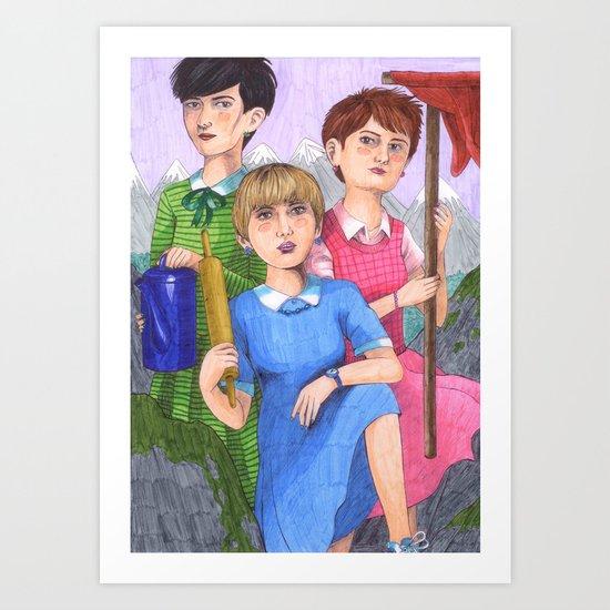 Beyond The Rainbow Valley Art Print